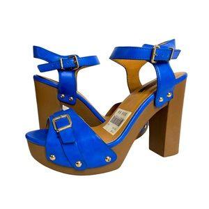 KENSIE Cobalt Blue Platform Open Toe Heel Sandals